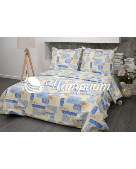 КПБ 1.5 спальный Арабеска, бежевый, набивная бязь 125 гм2 356-2