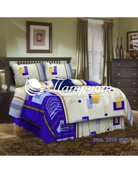 КПБ 1.5 спальный набивная бязь 125 гм2 1210-1