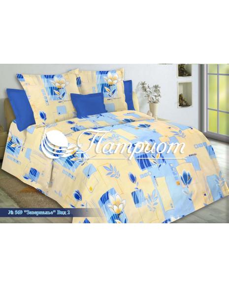 КПБ 1.5 спальный Зазеркалье, бежевый, набивная бязь 125 гм2 569-2