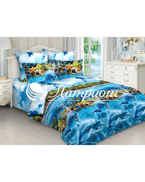 КПБ 2.0 спальный с Евро простыней, набивная бязь 125 гм2 4292