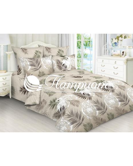 КПБ 2.0 спальный с Евро простыней, набивная бязь 125 гм2 5001