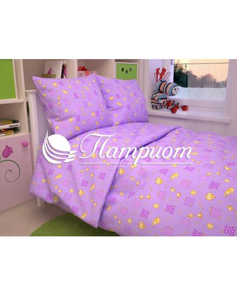 КПБ детский Жирафики, фиолетовый, бязь 125 гм2 366-5