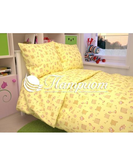 КПБ детский Жирафики, желтый, бязь 125 гм2 366-4