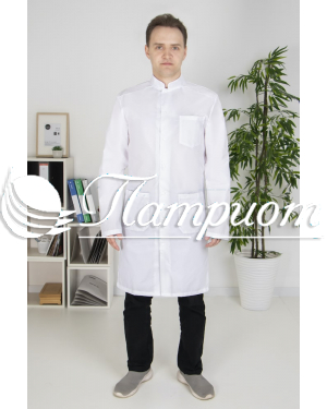 Халат медицинский мужской «Модельный» ткань ТИСИ Модель 6