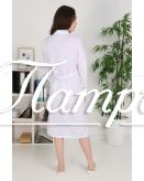 Халат медицинский женский «Классика» белый ткань ТИСИ Модель 2