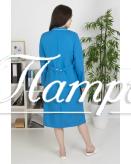 Халат медицинский женский «Модельный» ткань ТИСИ гладкокрашеный Модель 7
