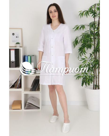 Халат медицинский женский «Модельный+» ткань ТИСИ Модель 11
