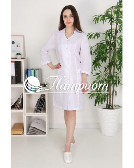 Халат медицинский женский «Модельный+» ткань ТИСИ Модель 12