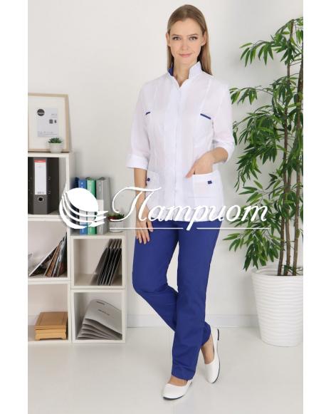 Костюм медицинский женский (рукав ¾) на кнопках Модель 5