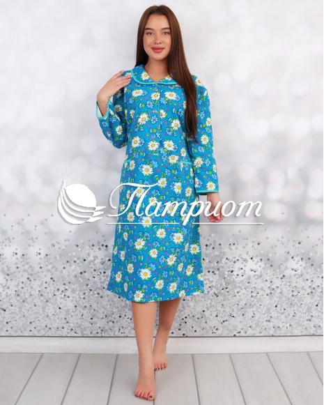 Платье женское фланель на 3 пуговицах